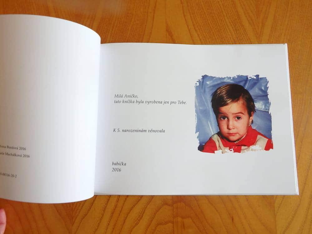 Osobní knížka - věnování