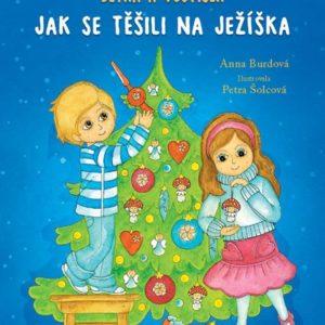 přední strana vánoční knížky pro děti Bětka a Vojtíšek